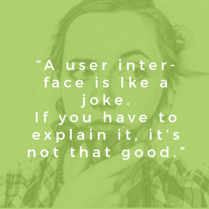 Quote about user experience web design