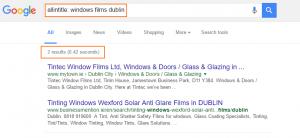 Allintitle search in Google