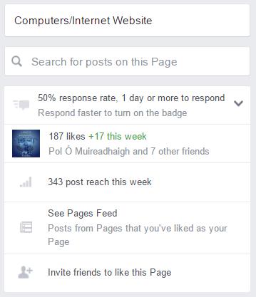 Facebook Page sidebar