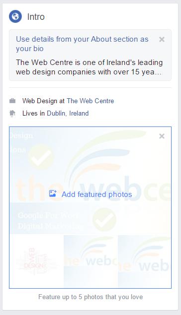 Facebook Profile sidebar