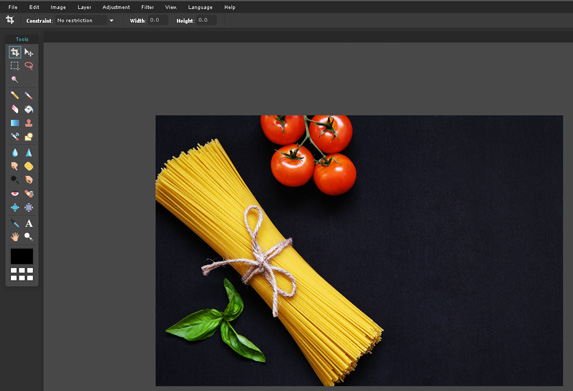 How to crop and compress images in Pixlr