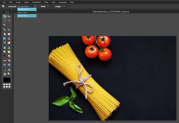 How to crop and compress images using Pixlr
